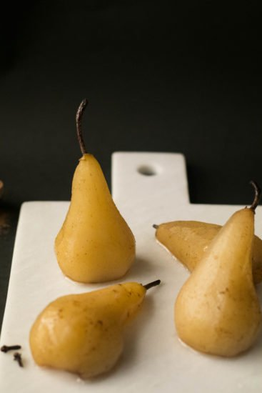 Pears and almonds