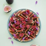 Figs and raspberry tart